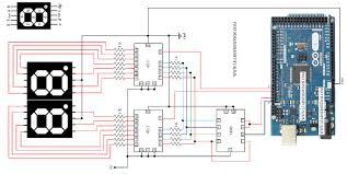 circuit diagram to control seven segment displays using arduino circuit diagram to control 2 seven segment displays using arduino mega 7490 and 4511