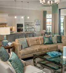 brown blue living room. Pop Of Sea Blue By Pizzazz Interiors II LLC Brown Living Room I