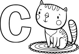 Coloriage C Comme Chat Imprimer