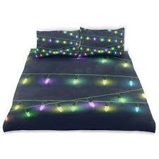 Christmas Lights Sheet Set Amazon Com Keepdiy Christmas Lights Bedding Set Twin