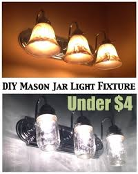 affordable bathroom lighting. Use An Old Standard Bathroom Light Fixture And Transform It With Mason Jars DIY Jar On The Cheap Affordable Lighting