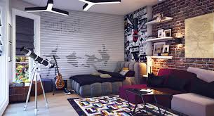 Contemporary-Beatles-theme-Teenagers-Boys-Rooms-designs.jpeg 1,160628  pixels | Kiddos | Pinterest | Boys room design, Contemporary and Room
