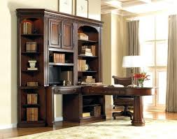 dual desk bookshelf small. Amazing Office Wall Unit With Dual Access Peninsula Desk And In Home Bookshelf Small