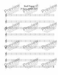 Staff Paper Treble Staff Paper 9 Lines Treble Clef Download Sheet Music Pdf File