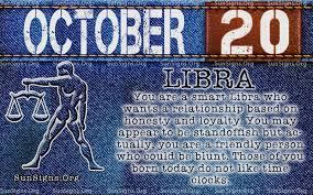 October 20 Zodiac Birthday Horoscope Personality | Sun Signs