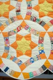 Detail, 1940's Golden Wedding Ring quilt listed at Ebay. $950 is ... & Detail, 1940's Golden Wedding Ring quilt listed at Ebay. $950 is too rich  for Adamdwight.com
