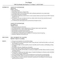 Accounting Controller Resume Samples Assistant Controller Resume Samples Velvet Jobs 9