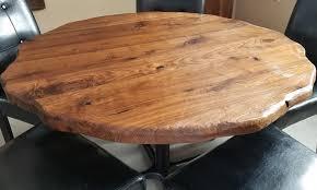sculpted live edge black walnut grinder finish round table top 4 jpg