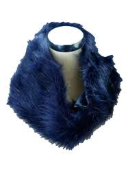 blue faux fur coat hm