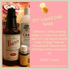 homemade dishwasher cleaner. DIY Liquid Dish Soap With Thieves Household Cleaner Homemade Dishwasher }