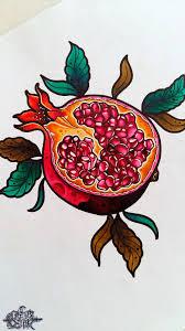 Pomegranate Flowers Fruit Tattoo Pomegranate Tattoo