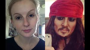 jack sparrow makeup transformation