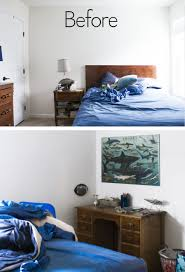 fabulous diy nautical shark theme bedroom makeover with diy copper pipe ceiling light copper pipe