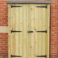 outdoor wooden lockable storage cupboard small