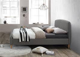 Quebec Bedroom Furniture Birlea Quebec Grey Fabric Upholstered King Size Bed Frame 5ft