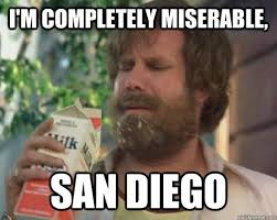 I'm Completely Miserable, San diego - Miserable Ron Burgundy ... via Relatably.com