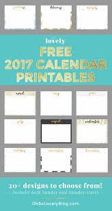 23 free 2017 calendar printables