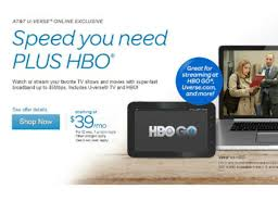 at t boots up u verse hbo internet plus package