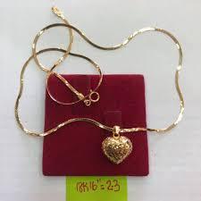 authentic 18k saudi gold chain w pendant