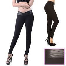 alltopbargains women trousers faux leather pants skinny jeans jeggings black leather look s m l com