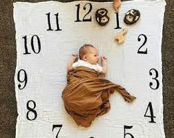Monthly Milestone Growth Blanket Sewmine Babytime Photo Etsy