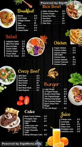 Food Menu Design Ideas Complete Digitalsignage Menu Boards Design For