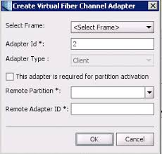 on the create virtual fiber channel adapter dialog specify