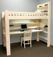 desk best 10 bed with desk underneath ideas on girls bedroom with loft bed