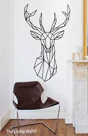 geometric deer head wall decals geometric animal by livingwall on australian animal metal wall art with geometric deer head decal geometric animal stickers deer head