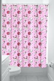 vintage looking shower curtains zombie bunny cupcake skulls shower curtain retro shower curtain rings