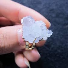 rock crystal quartz cer ring