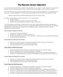 How To Write Your Objective On A Resume Sample Objectives For