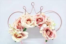 pink fl wire disney ears tiaras