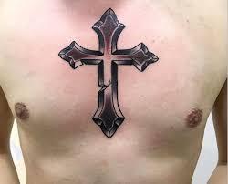 cross chest tattoo designs. Plain Tattoo Mens Chest Cross Tattoo Design In Cross Chest Tattoo Designs Designtrends