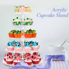 large 6 tier clear crystal glass round wedding cupcake stand tower cake stand us 2 2 of 12