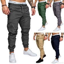 Designer Joggers Sale Multi Pockets Cargo Pants For Men Joggers Sweatpants Athletic Cotton Elastic Rope Pulling Designer Trousers
