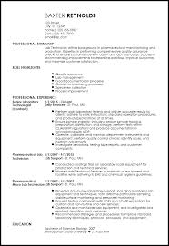 Free Traditional Lab Technician Templates Resume Now