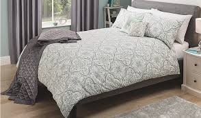 cool design damask bed covers george home grey tile duvet set at asda throughout decor 4