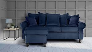velvet navy blue st moritz corner sofa