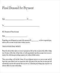 Legal Final Demand Payment Letter