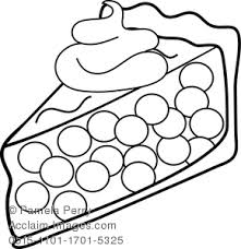 Small Picture Art Illustration of a Piece of Cherry Pie Coloring Page
