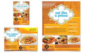 Microsoft Word Restaurant Menu Template Cool Indian Restaurant Flyer Ad Template Word Publisher