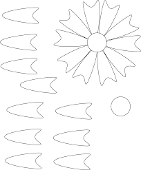 Paper Flower Print Out Exploit Free Flower Stencils To Print And Cut Out 12 Printable
