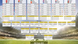Die deutsche nationalmannschaft hat mit frankreich, portugal und ungarn eine schwere vorrundengruppe erwischt. Em 2021 Hier Der Spielplan Zum Ausdrucken Zeitplan Und Stadien Fur Gruppen A Bis F Gmx Ch