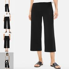 Eileen Fisher Size Chart Eileen Fisher Gaucho Hr Capris Wide Leg Sz Small