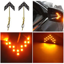 Led Car Signal Lights 2pcs 14 Smd Led Car Turn Signal Lights Arrow Panels For Car