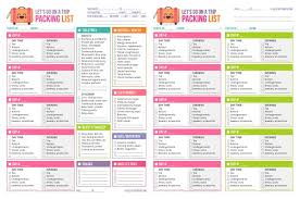 Packing List For Summer Vacation Printable Packing List Vacation Rome Fontanacountryinn Com