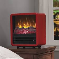 electric space heater retro mid century fireplace fire display