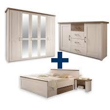 5 Teiliges Schlafzimmer Set Luca Pinie Weiß Trüffel Online Bei