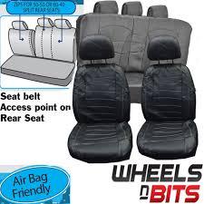 vw golf mk5 mk6 mk7 universal black white stitch leather look car seat covers